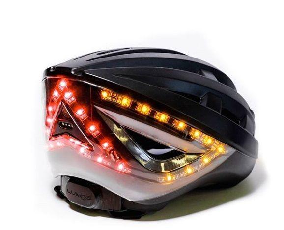 קסדה לאופניים עם אורות איתות 3קסדה לאופניים חשמליים עם אורות בלימה