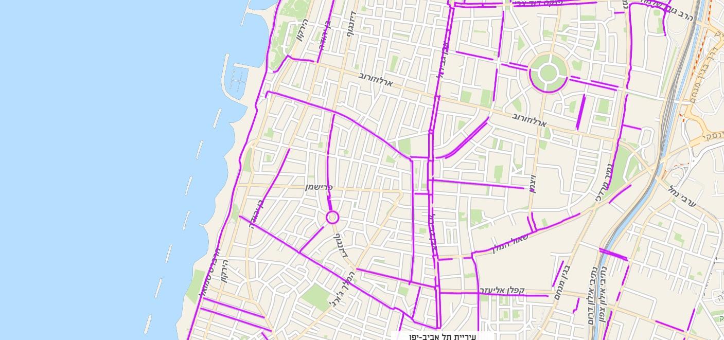 אופניים חשמליים בתל אביב - מאות ק